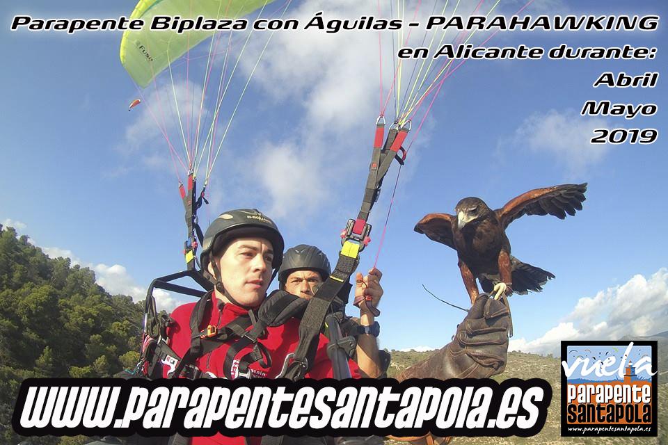 Parapente Biplaza con Aguilas - Parahawking